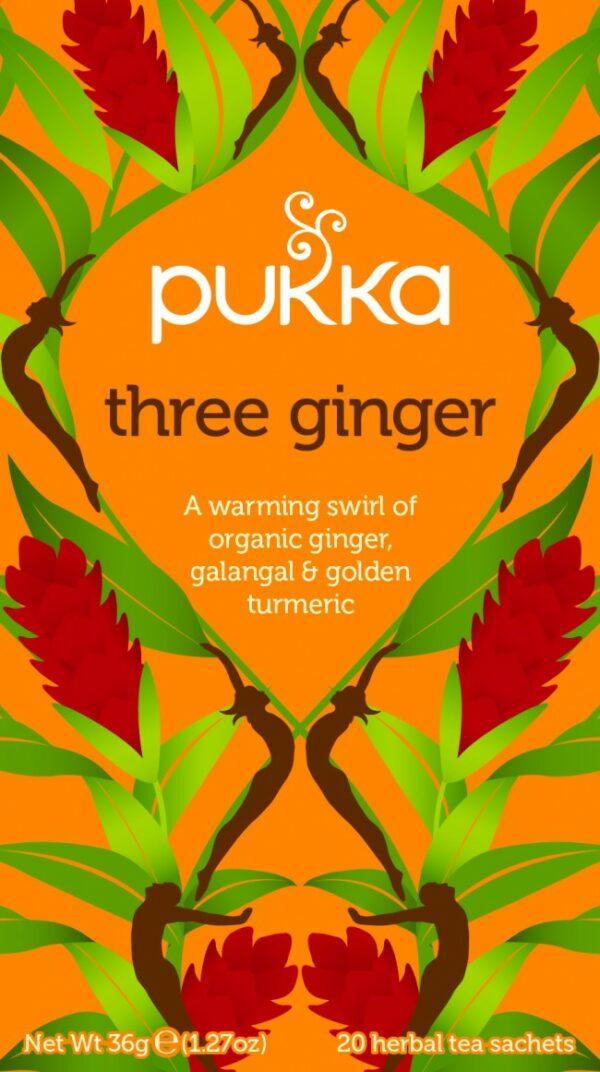 Bio Pukka Teemischung Three Ginger 20 Beutel
