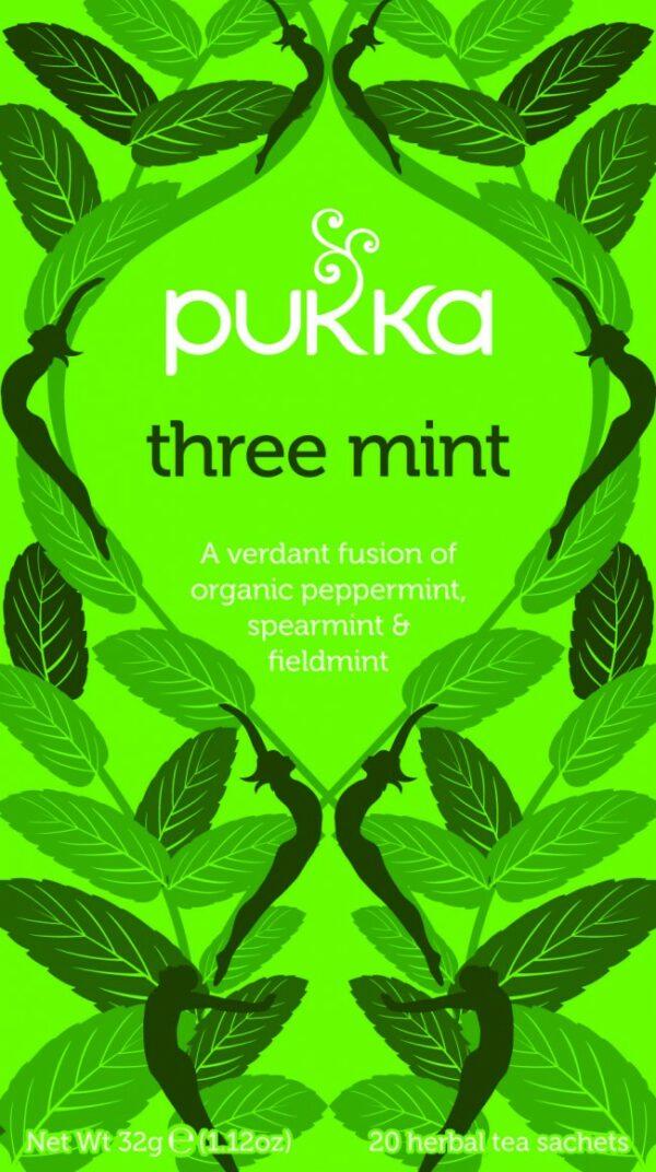 Bio Pukka Teemischung Three Mint 20 Beutel