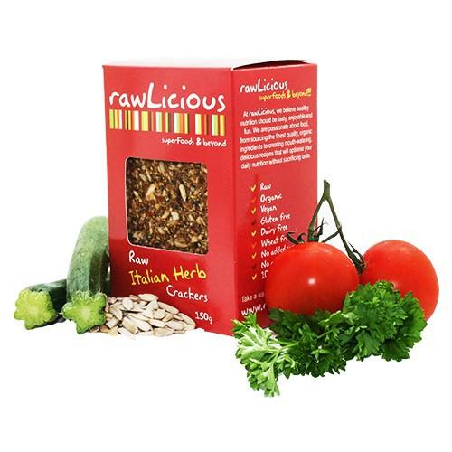 Bio Crackers Italienische Kräuter 150 g