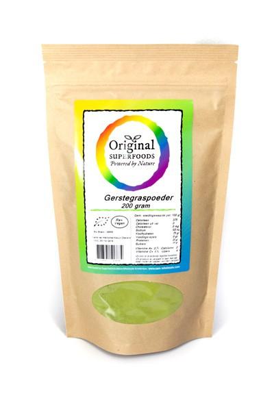Bio Gerstengraspulver roh 200 g